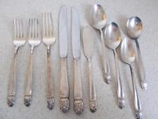 Vtg Lot of 10 SILVERPLATE DANISH PRINCESS 1938 flatware utensils Holmes & Edward