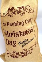Large Hessian Santa Sack Merry Christmas Sacks Christmas Decoration Stocking