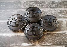 4x Wheel Rims Center Hub Caps Bright Black Logo 57mm Fit Toyota Corolla Prius