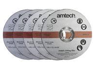 AMTECH 5pc 1.2mm x115mm 4.5'' METAL BOLT CUTTING DISC GRINDER CUTTER BLADE NEW