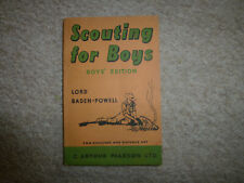 More details for scouting for boys , boy's edition book / lord baden- powell - 1960