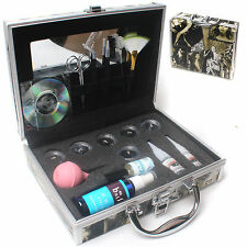 Pro False Eye Lash Eyelash Extension Glue Brush Full Kit Tools Set makeup Case