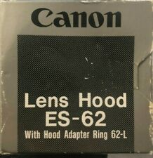 Genuine Canon ES-62 Lens Hood with hood adapter ring 62-L