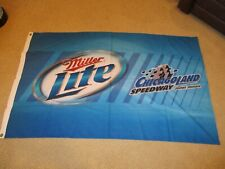 CHICAGOLAND SPEEDWAY MILLER LITE BEER FLAG 3'X5' USED ONCE