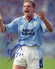 Paul Gascoigne - Gazza - Lazio - Footballer - Signed Autograph REPRINT