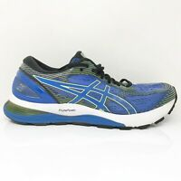 Asics Mens Gel Nimbus 21 1011A169 Black White Running Shoes Lace Up Size 12
