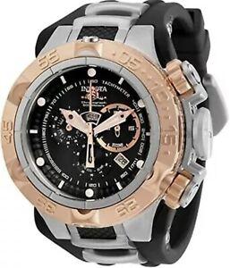 Invicta Subaqua Noma V 12880 50mm Rosetone/Black/Silver Quartz Strap Watch NEW!!