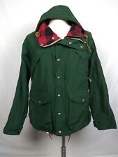 POLO RALPH LAUREN GREEN PLAID LINED SIZE M HOODIE PARKA JACKET MOUNTAIN OUTDOORS