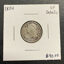 1834 U.S. SILVER CAPPED BUST DIME ~ VF DETAILS! $2.95 MAX SHIPPING! C3440