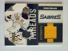 2011-12 Panini Pinnacle Threads Ryan Miller Buffalo Sabres 482/499 Jersey YELLOW