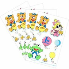 MUPPETS BABIES Vintage 1st BIRTHDAY STICKERS ~ First Party Supplies Favors Prize