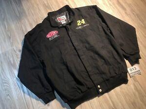 MEN AUTHENTIC NASCAR DUPONT JEFF GORDON #24 Chase Jacket Black XLarge Stitched