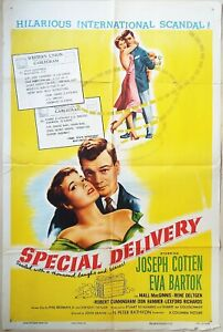 Special Delivery 1955  Joseph Cotten, Eva Bartok Original US One Sheet Poster