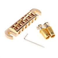 Musiclily Pro Gold Tune-O-Matic Wraparound Adjustable Bridge For Les Paul Guitar