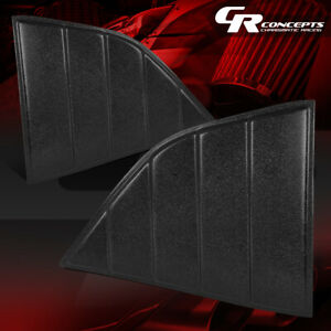 PAIR REAR QUARTER SIDE WINDOW LOUVERS SCOOP SUN SHADE FOR 08-19 DODGE CHALLENGER