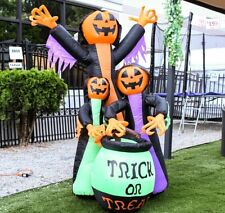 ALEKO Blow up Outdoor Yard Decoration Halloween Inflatable Ghost Family 6 feet