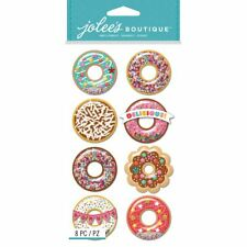 Boutique Dimensional Stickers - Donut Snow Globes - Jolees