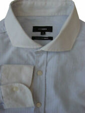 PETER WERTH Shirt Mens 16.5 L Light Blue Diamonds TEXTURED