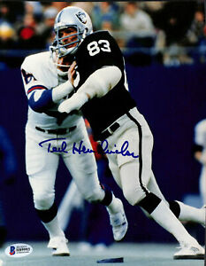 Raiders Ted Hendricks Authentic Signed 8x10 Photo versus Giants Autographed BAS