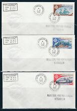 TAAF  FSAT   enveloppe  bateaux navires voilier num: PA 44/46