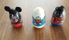 VINTAGE LOT OF 3 DISNEY WEEBLE WOBBLES MICKEY MOUSE GOOFY & DONALD DUCK TOYS