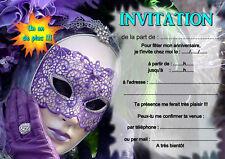 5 oder 12 geburtstag einladungskarten maske venedig REF 380