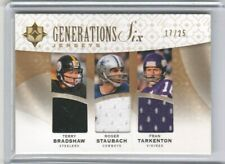 Manning Brees Bradshaw Staubach Tarkenton Upper Deck Ultimate 6 Jersey Patch /25