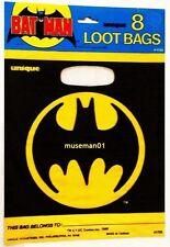 1982 BATMAN LOOT BAGS ~ 8 Bags with Bat Signal ~ Factory Sealed ~ @LOOK@