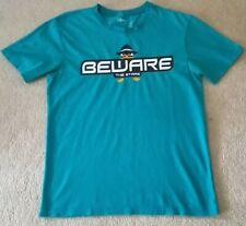 DISNEY ANGRY BIRDS BEWARE THE STARE Disney Store T-Shirt Mens SM teal