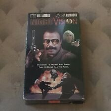 Night Vision (VHS) Fred Williamson Cynthia Rothrock Bad Ass Action Movie MINT!!!