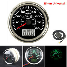 1x Car GPS Speedometer Gauge 8 Color Backlight LCD Speed Odometer 85mm Universal