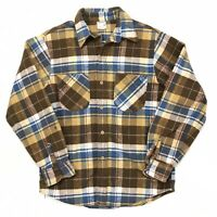 Vtg Mens Big Mac JC Penney Flannel Shirt Check & Plaid Size Medium