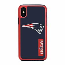 For Apple iPhone X New England Patriots Dual Hybrid 2 Piece Protective Case NFL
