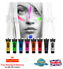 Uv Glow Neón Face & Body Paint - 10ml Set De 6-Fluorescente (Cera Base)