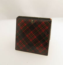 SMALL STAMP HOLDER / BOOK / POCKET ? MAUCHLINE / TARTAN WARE INTEREST ? CAMERON