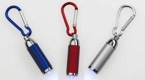 Mini-Taschenlampe mit Schlüsselanhänger (Fokussierbar). Einzeln oder als 3er-Set
