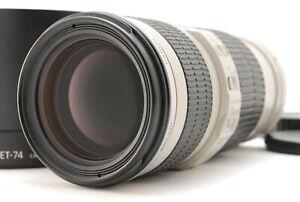 """ Almost Mint "" Canon EF 70-200mm f/4 L IS USM AF Lens w/ Hood From JAPAN #553"