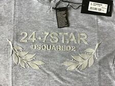 "DSQUARED2 - Men's 24-7 STAR Leaf Logo Crew Shirt.   XL.  21"""