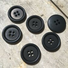 6 x Ted Baker ENDURANCE Genuine Branded Replacement Black Circular Buttons 2cm