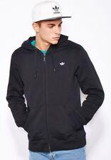 adidas Originals Mens 3 Stripe Hoodie Hooded Top Black Size Medium Large X-large XL