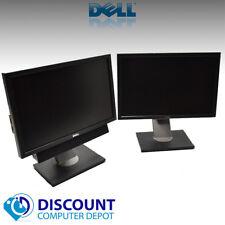 """Dell Dual Ultrasharp Widescreen LCD Monitors 1909W 2x 19"""" With (1) Dell Soundbar"""
