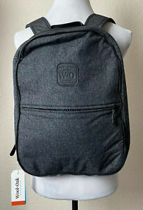 Wool & Oak The Pro Backpack Gray Fabric Luxury Water Resistant Bag New