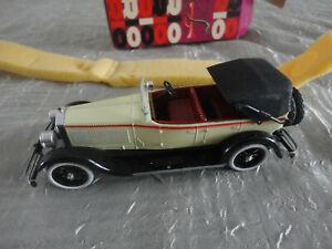 RIO N°9 ISOTTA FRASCHINI 8A 1926 MODEL CAR 1/43 AUTO RARE BOITE ancien VINTAGE