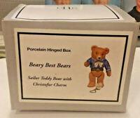 PHB CANNON FALLS Hinged Box Beary Best Bears/ Male Bear w Christofur Charm  DV75