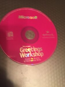 Microsoft Greetings Workshop Hallmark Connections CD 1996 w/ instructions / NM