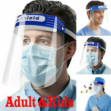 New ListingUsa Safety Full Face Shield Reusable FaceShield Clear Washable Face Anti-Splash-