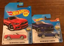 Hot Wheels - 2015 Ford Mustang GT Convertible Red & Blue variants - Diecasts