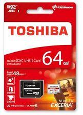 Schede di memoria Toshiba per fotocamere e videocamere da 64 GB