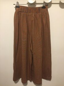 Obus Traveller Sriped Culottes Size 2 Jersey Stretch Cotton
