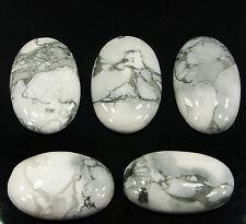 179.20 Ct Natural Howlite Loose Gemstone Cabochon Lot of 5 Pcs - 16605